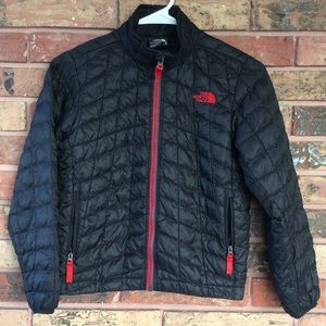 North Face Black Full Zip Thermoball Jacket Small